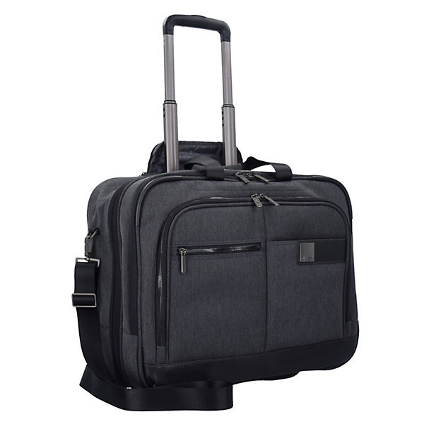 Titan Power Pack 2-Rollen Businesstrolley 48 cm Laptopfach grau