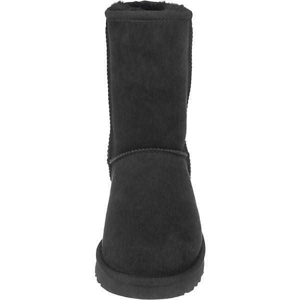 UGG Classic Short II Stiefeletten schwarz