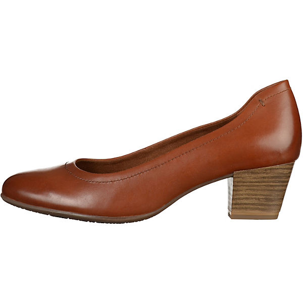 Tamaris Pumps cognac