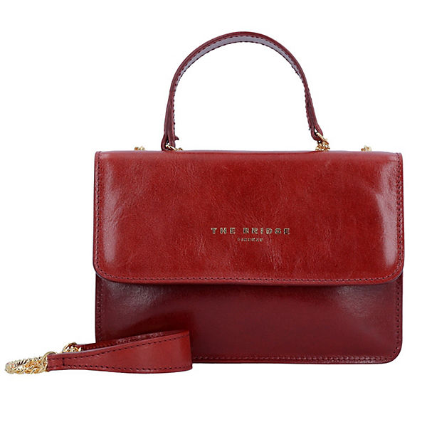 The Bridge Candy Handtasche Leder 20 cm rot