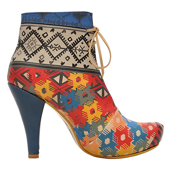 Ankle Boots ethnic style mehrfarbig