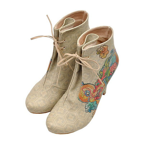 Ankle Boots chinese dragon above clouds mehrfarbig