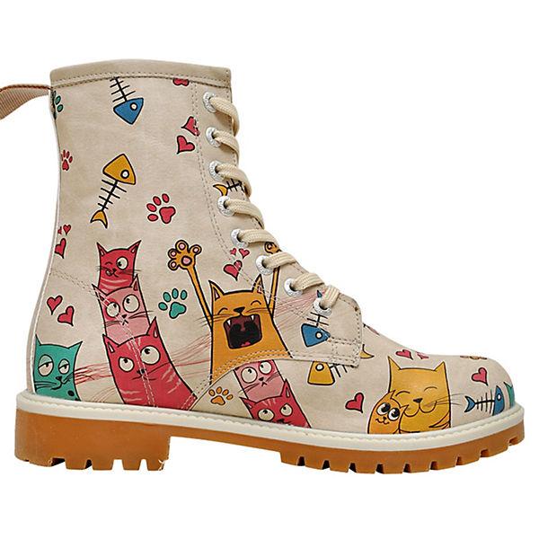 Klassische Stiefel Cat Lovers mehrfarbig