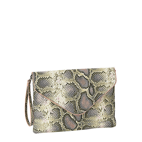 Clutch mit coolem Design rosa-kombi