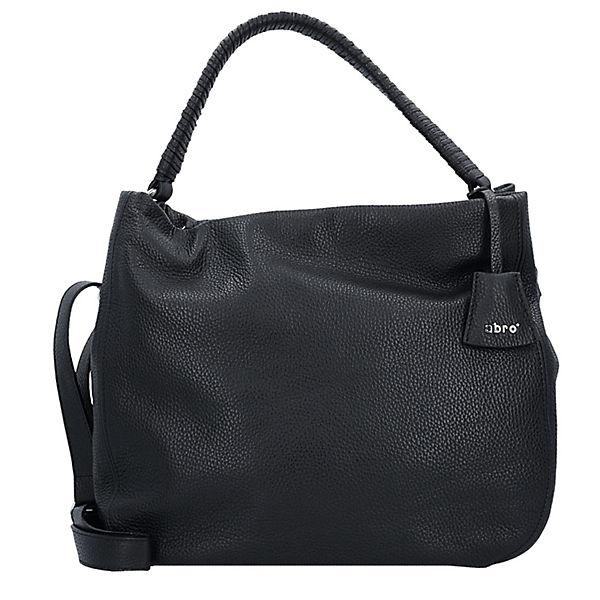 Handtasche Adria Schultertasche 38 cm schwarz