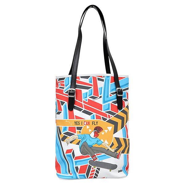Umhängetasche Tall Bag Yes I can fly blau