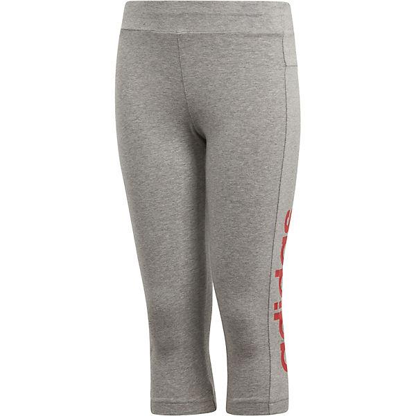 für Essentials Mädchen 3 grau Performance Sportleggings adidas 4 XfwUq