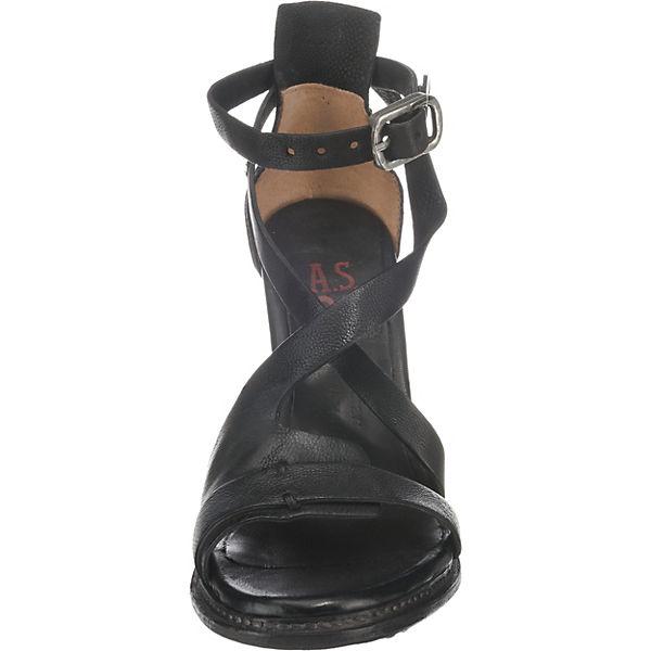 S Klassische A schwarz Sandaletten 98 ZdOwFwxASq