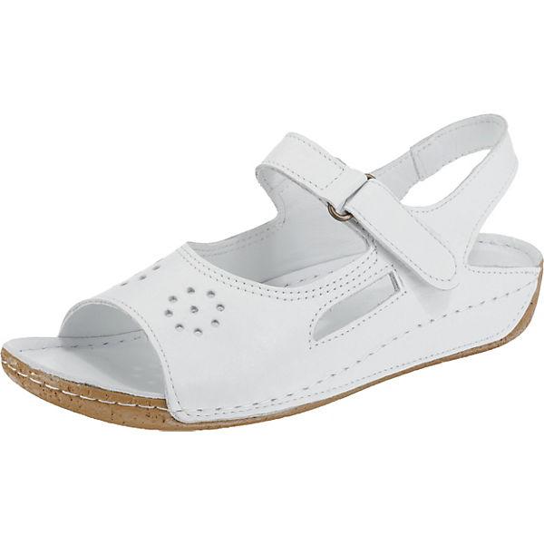 Andrea weiß Andrea Klassische Conti Conti weiß Sandaletten Sandaletten Klassische Andrea q65HU