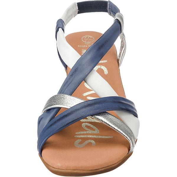 my Sandals Riemchensandalen weiß blau Oh 7qSwd7