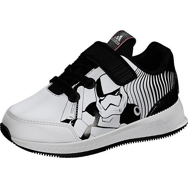 Sportschuhe STAR für weiß Jungen adidas schwarz WARS RapidaRun Performance tw5xCqP
