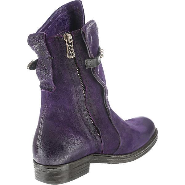 Klassische Stiefeletten 98 A violett S 7WS8qAcw0x
