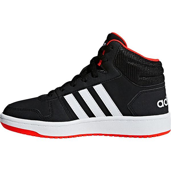 Sneakers Jungen schwarz K für 2 Sport 0 MID Inspired HOOP adidas High 6BwnxFRZw
