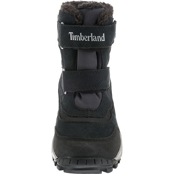 Timberland Winterstiefel CHILLBERG 2-STRAP GT JET BLACK, Gore-Tex, für Jungen schwarz