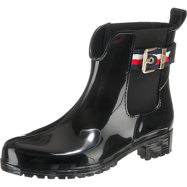 TOMMY CORPORATE schwarz BOOT Stiefeletten Klassische BELT HILFIGER RAIN vraxwSvf