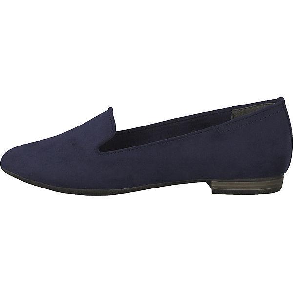 MARCO TOZZI Klassische Slipper blau