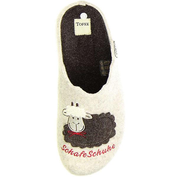 Tofee, Damen Hausschuhe Naturwollfilz (Schafeschuhe) beige, beige Schuhe  Gute Qualität beliebte Schuhe beige d383ed