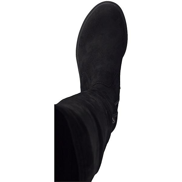 Tamaris, 1-25506-21 001 Damen Black Schwarz Sohle Stiefel Langschaftstiefel mit TOUCH-IT Sohle Schwarz und Stretch Schaft Klassische Stiefel, schwarz  Gute Qualität beliebte Schuhe 8781d0