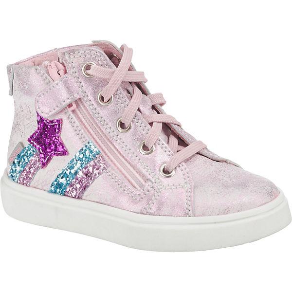elegante Schuhe Neueste Mode Großhandel RICHTER, Sneakers High für Mädchen, rosa