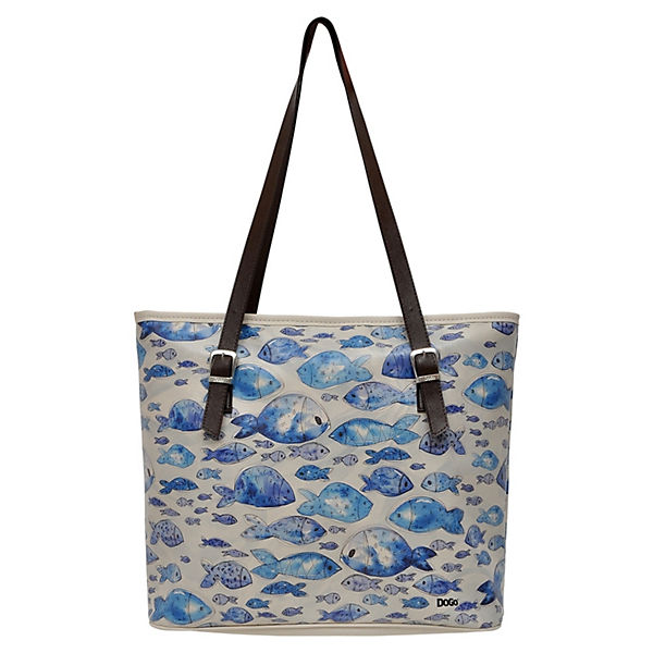 Shortie Watercolor Fish Shopper