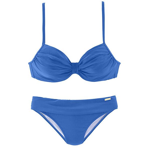 Lascana Bügel Hellblau bikini Mit Raffungen Cup Am f6yYgb7