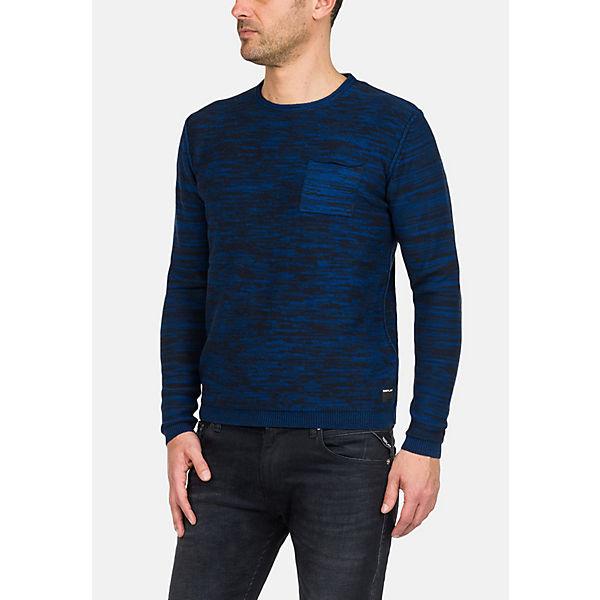 Replay Mit Blau Zweifarbigem Pullover Strickpullover Streifenmuster vn0N8mw