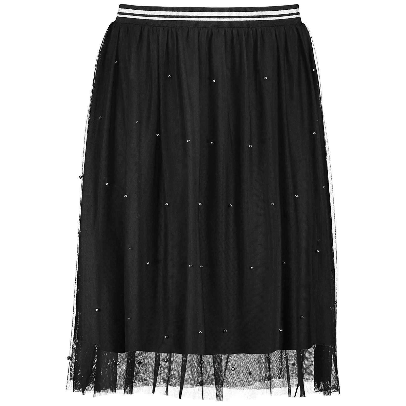 Samoon Rock Gewirke Tüllrock mit Perlen Röcke schwarz Damen Gr. 48