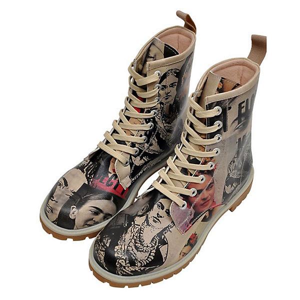 Dogo Schuhes, Stiefel I paint flowers Schnürstiefeletten, grau  Gute Qualität beliebte Schuhe
