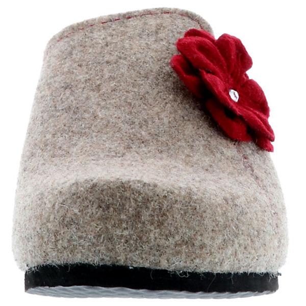 Tofee, Damen Hausschuhe Pantoffeln Naturwollfilz Blume, beige  Gute Gute Gute Qualität beliebte Schuhe 473c82