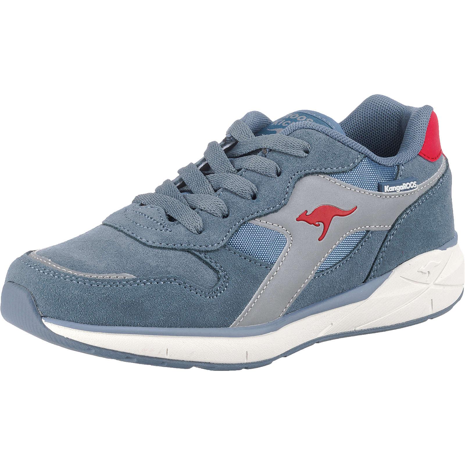 KangaROOS Kinder Sneakers Low KIROO WMS Weite M blau/rot Gr. 31