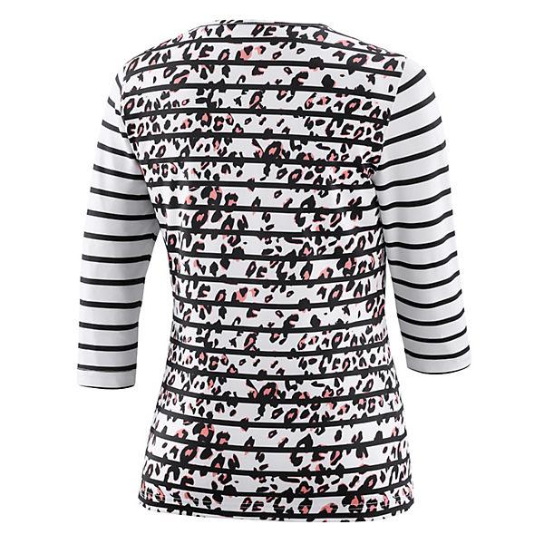 Joy koralle Sportswear 4 3 Zina Weiß shirt arm stBohrxCQd