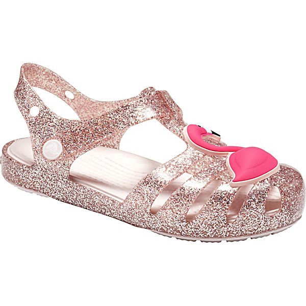 b1956fb2438fe crocs, Sandalen Isabella Charm für Mädchen, beige