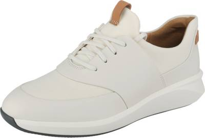 Clarks, Un Rio Lace Sneakers Low, weiß