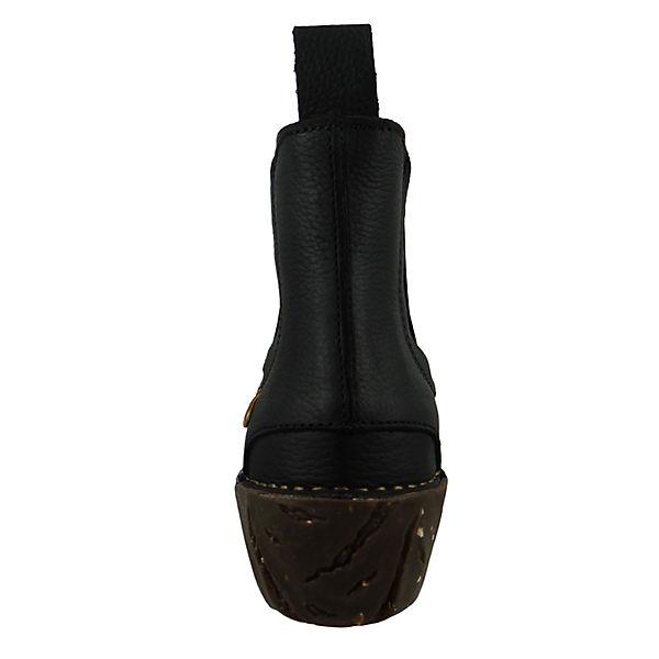 EL NATURALISTA, Schuhe Damen Stiefelette N158 Stiefeletten, YGGDRASIL schwarz Schwarz Klassische Stiefeletten, N158 schwarz Gute Qualität beliebte Schuhe 761ab7