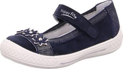 superfit, Ballerinas TENSY für Mädchen, WMS Weite M4, blau