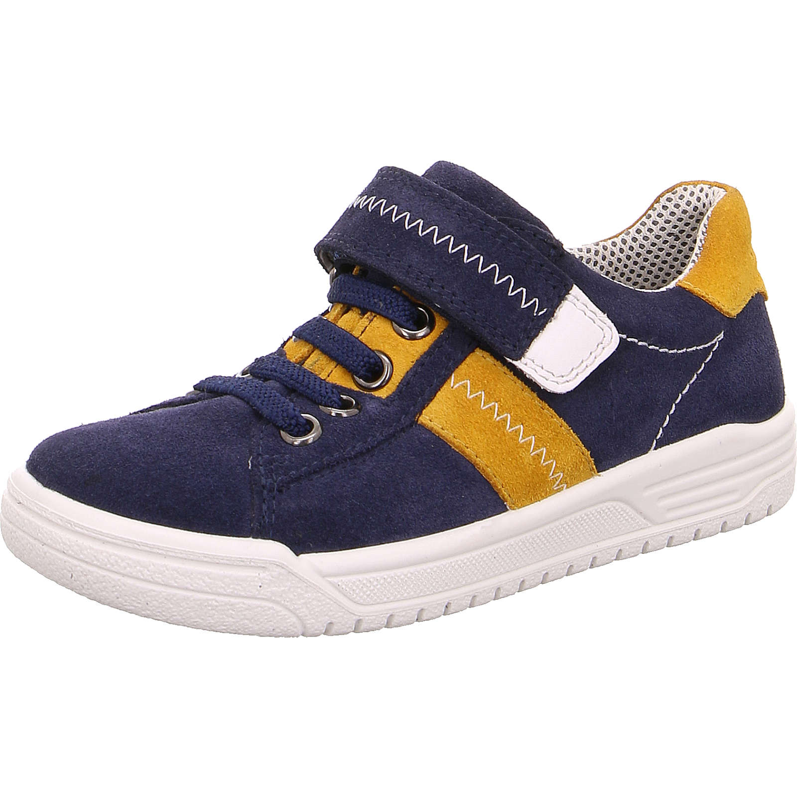superfit Halbschuhe EARTH für Jungen, WMS-Weite W5, GORE-TEX, für breite Füße blau/gelb Junge Gr. 33