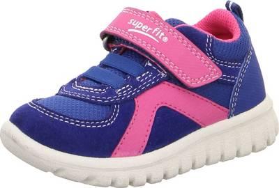 superfit, Baby Sneakers Low SPORT7 MINI für Mädchen WMS Weite M4, blaulila