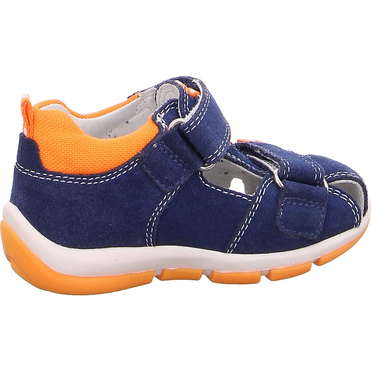Superfit, Baby Sandalen Freddy Für Jungen, Wms-weite M4, Blau/orange
