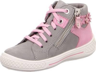 superfit, Sneakers High TENSY für Mädchen, WMS Weite M4, hellgrau