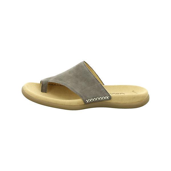 Gabor, Pantoletten dunkel-grau Pantoletten, dunkelgrau  Gute Qualität beliebte Schuhe