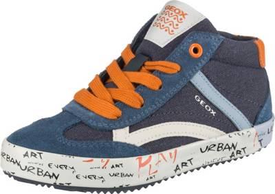 GEOX, Sneakers High ALONISSO BOY für Jungen, blauorange