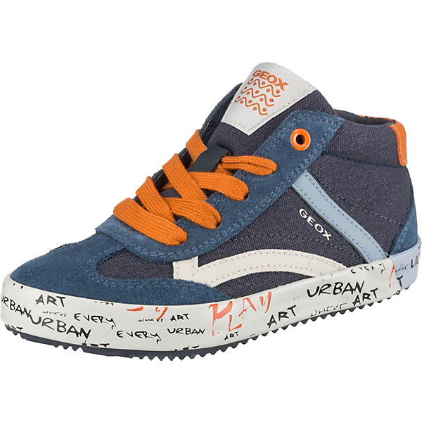innovative design 2e509 6104d GEOX, Sneakers High ALONISSO BOY für Jungen, blau/orange