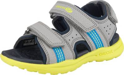 GEOX Vaniett Kinder klassische Sandale Grau Schuhe | O46