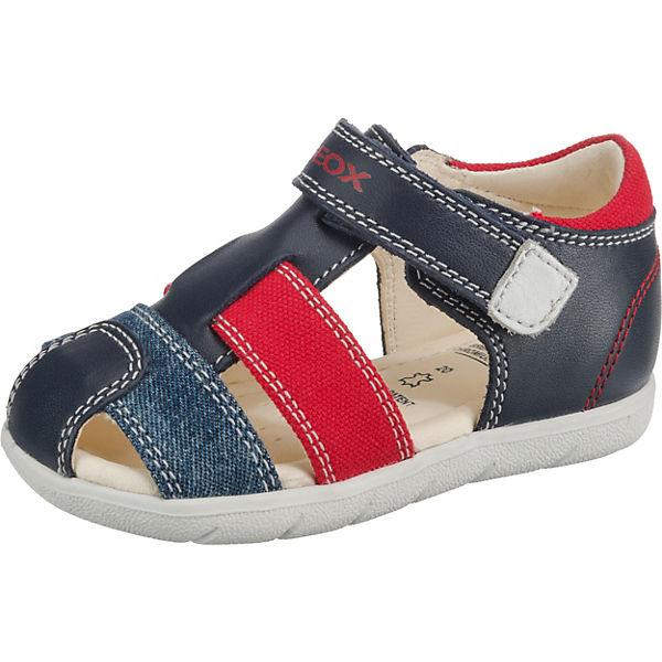 latest discount new arrive autumn shoes GEOX, Baby Sandalen ALUL BOY für Jungen, blau/rot
