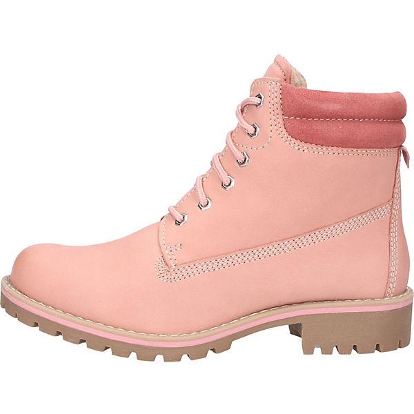 MARCO TOZZI, Stiefelette Schnürstiefeletten, rosa  Gute Qualität beliebte Schuhe