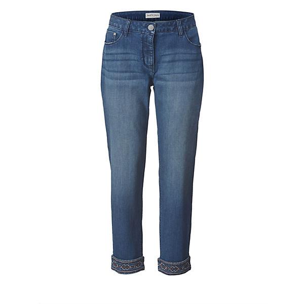 Fit Blau Janetamp; Joyce Knöchellang Jeans Slim L5Aj4R