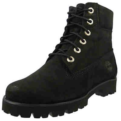 8dd4c0c863 Damen Stiefel Heritage 6 Inch Lace Up Boot Leder Black Schwarz A1UMG  Schnürstiefeletten ...