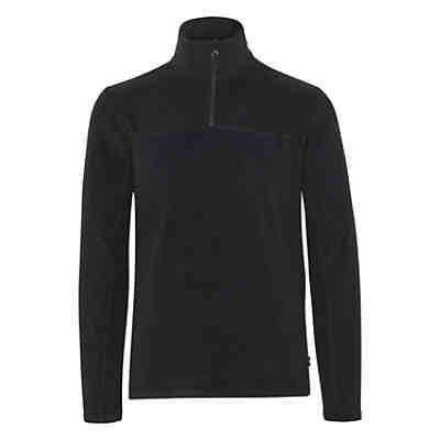 Fleece Pullover unifarben Fleecejacken