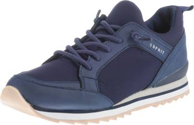 Rabatt ESPRIT Damen Schuhe Astro Lace Up Sneakers Low Blau