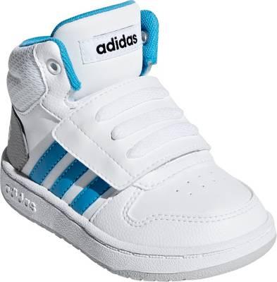adidas Sport Inspired, Baby Sneakers High HOOPS MID 2.0 für Jungen, türkisweiß